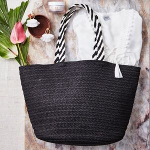 Rachel Zoe for Box of Style Palm Straw Tote Bag